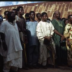 Crowd watching installation of Oba Odo