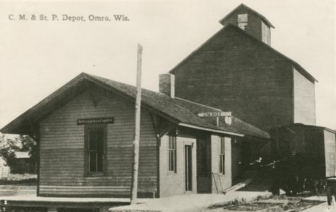 C., M. and St. P. Depot, Omro, Wisconsin