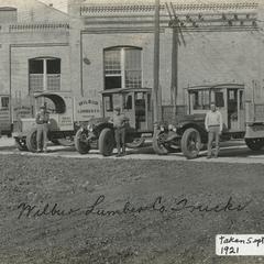 Wilbur Lumber Company, Waukesha, trucks
