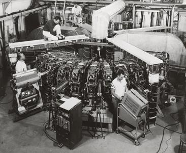 MURA researchers working on the 50MeV machine