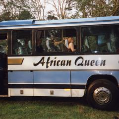 Group on tour bus