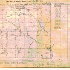 [Public Land Survey System map: Wisconsin Township 20 North, Range 05 West]