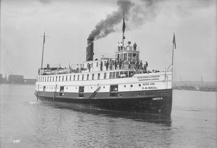 The America in Duluth-Superior Harbor