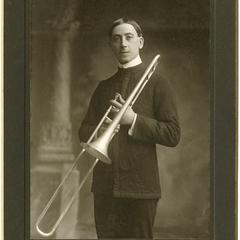 Arthur Bauer[?] with trombone