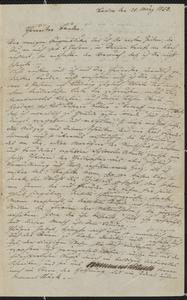 [Letter from Kajetan Sternberger to his brother, Jakob, March 28, 1853]