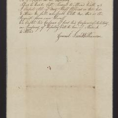 "Invitation from General David Williamson to Major Dominy to attend ""the Execution at Riverhead"" in full uniform, 1835"