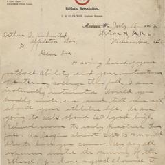 Letter to A.O. Kuehmstead