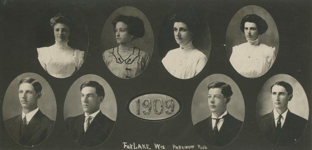1909 Fox Lake, Wisconsin, High School Graduates