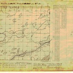 [Public Land Survey System map: Wisconsin Township 28 North, Range 18 East]