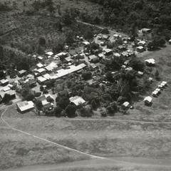 Aerial view of the village of Houei Kong in Attapu Province