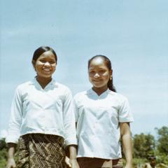 Two Laven girls in Attapu Province