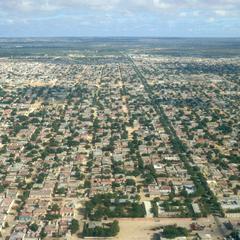Aerial View of Mogadishu Showing Main Road of Somalia