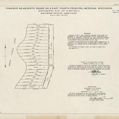 [Public Land Survey System map: Wisconsin Township 43 North, Range 05 East]
