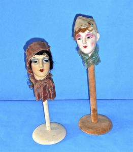 Pierrot and Pierrette hat stands