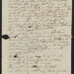 Letter from Matthew Huntting, Smithtown, Sept. 15, 1817
