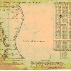 [Public Land Survey System map: Wisconsin Township 08 North, Range 22 East]