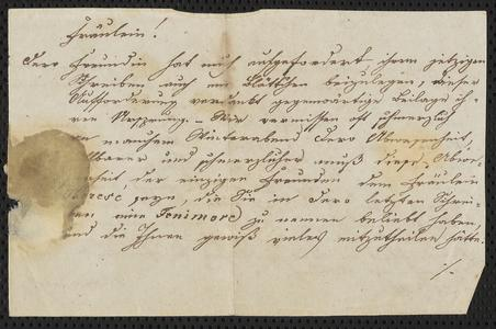 [Letter from P : Fos. Siegl to Fräulein, February 13, 1846]