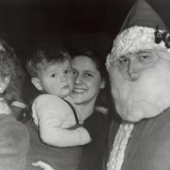 Santa Claus at Custerdale party