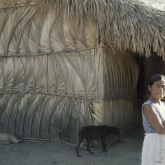 Sabal palm-covered house, near Chiguimula
