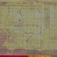 [Public Land Survey System map: Wisconsin Township 34 North, Range 13 West]