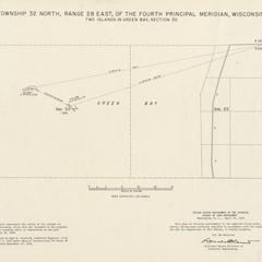 [Public Land Survey System map: Wisconsin Township 32 North, Range 28 East]