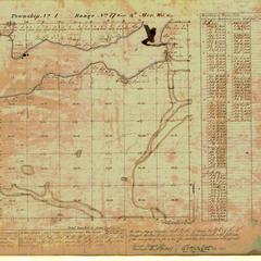 [Public Land Survey System map: Wisconsin Township 01 North, Range 17 East]