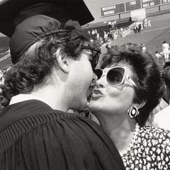 With mom at commencement