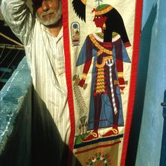 Tentmakers : Craftsman with Appliqued Textile Depicting Cleopatra