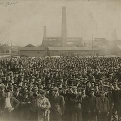 American Brass Company employees outside the Kenosha plant