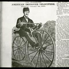 American improved velocipede of 1869