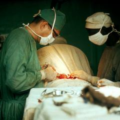 Thyroid Operation Being Performed at a Mission Hospital