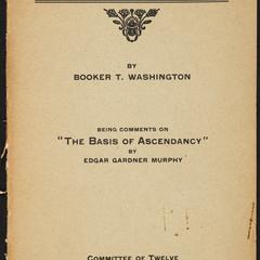 The Negro and the Solid South : being comments on the basis of ascendancy