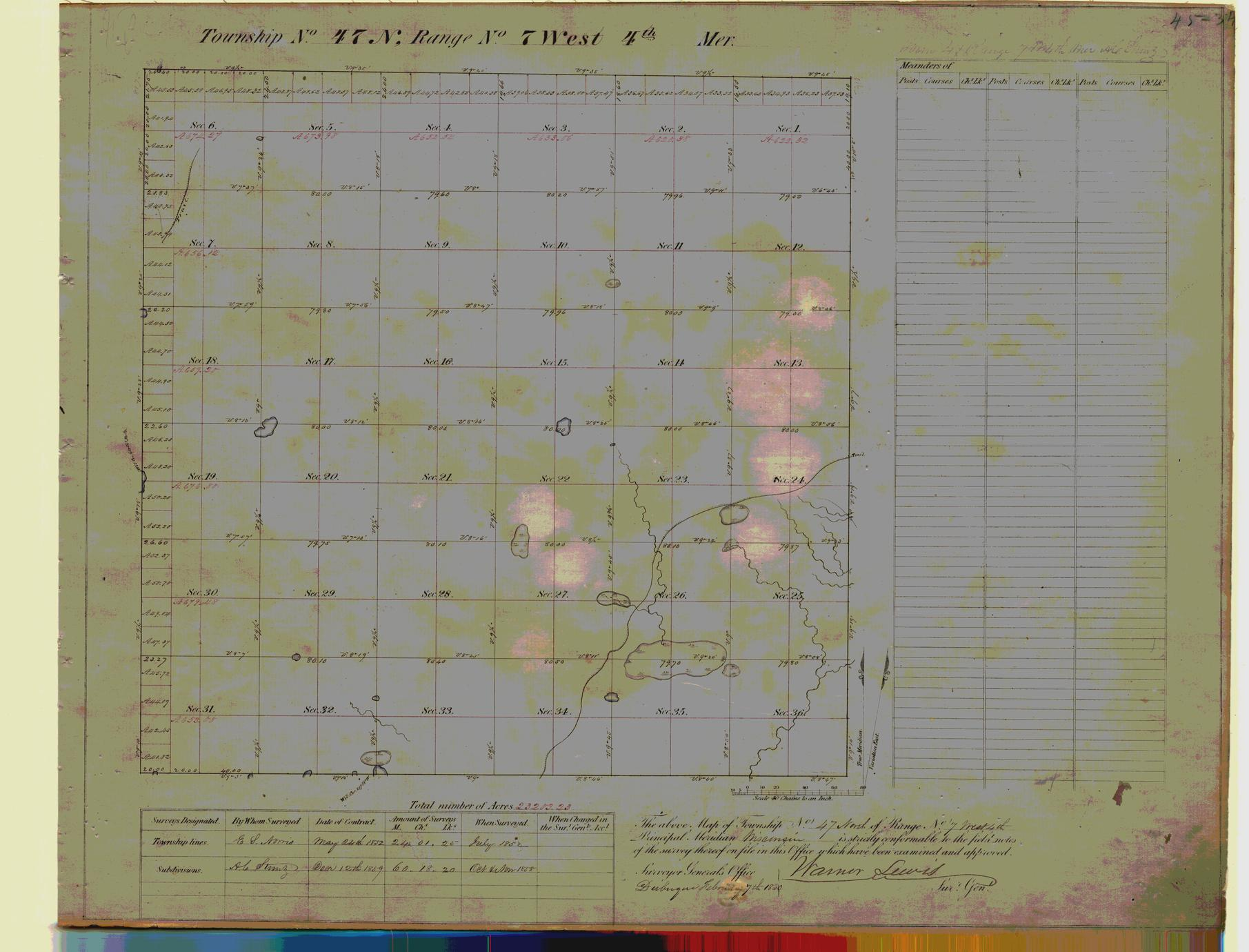 [Public Land Survey System map: Wisconsin Township 47 North, Range 07 West]