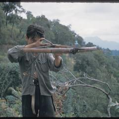 Hmong (Meo) with crossbow