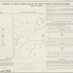 [Public Land Survey System map: Wisconsin Township 40 North, Range 06 East]