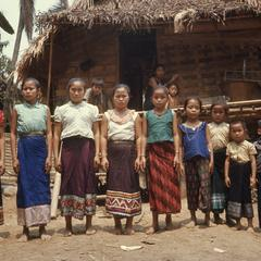 Lao women, girls, and a boy