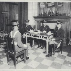 Battalion board interviewing a cadet, Philippine Military Academy