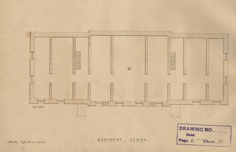 North Hall blueprint