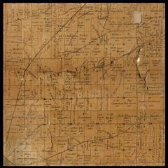 Lafayette Township plat map, 1857