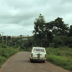 White van on an Iloko Road