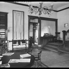 YMCA reception room and office