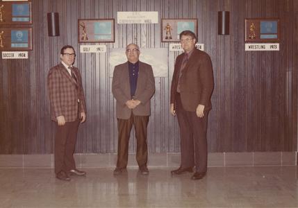 UW Center Barron County Dean John F. Meggers and Coach John O'Brien
