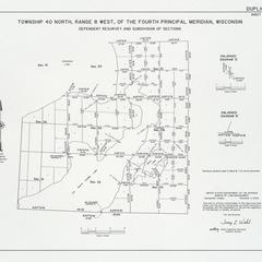 [Public Land Survey System map: Wisconsin Township 40 North, Range 08 West]