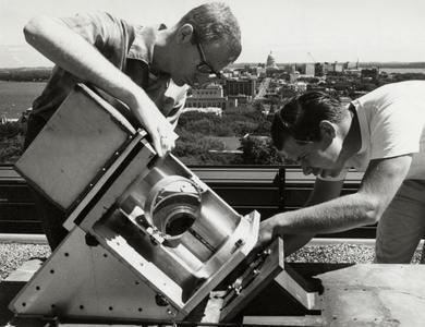 Equipment on roof of Van Vleck