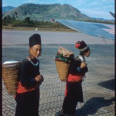 Hmong (Meo) women at airport
