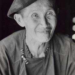 A Yao (Iu Mien) man in the town of Nam Kheung in Houa Khong Province