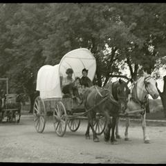 Covered wagon of Wilmot pageant