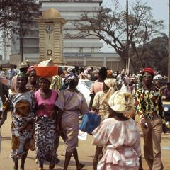 The crowded streets of Ibadan