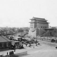 Northeastern side of the embrasured tower of Zhengyang Men (Zhengyang Gate) 正陽門.