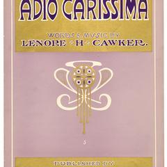 Adio Carissima
